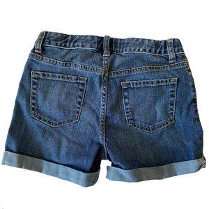 Cat & Jack Denim Trendy rolled cuff shorts NWOT